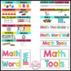 Math Word Wall- Common Core Aligned!