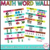Math Word Wall Kindergarten