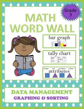 Math Word Wall - Data Management