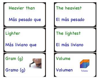 Math Word Wall (English/Spanish)
