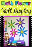 Math Word Wall Flower Display - Addition Subtraction Multiplication Division