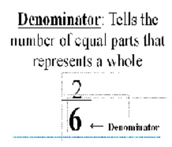 Math Word Wall Fraction Cards