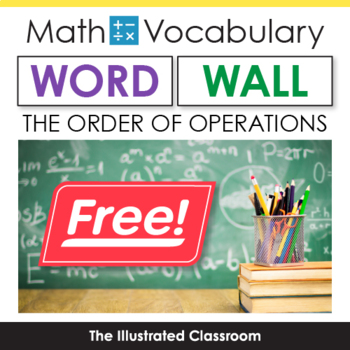 Math Word Wall Freebie - The Order of Operations Around the World