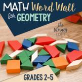 Math Word Wall-Geometry Vocabulary