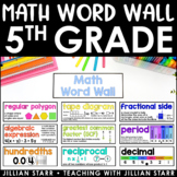 Math Word Wall 5th Grade (Common Core Aligned)