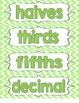 Math Word Wall Grades 1-4
