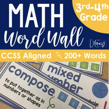 Math Word Wall {Grades 3-4}