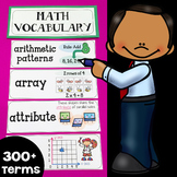 Illustrated Math Word Wall Display Cards (300+ Math Vocabu