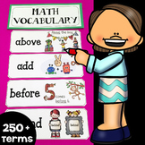 Illustrated Math Word Wall Display Cards (250+ Math Vocabulary Terms)