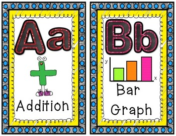 Math Word Wall Headers