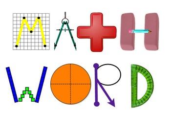Math Word Wall Heading