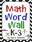 Math Word Wall K-3