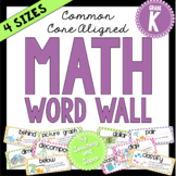 Math Word Wall (Kindergarten)