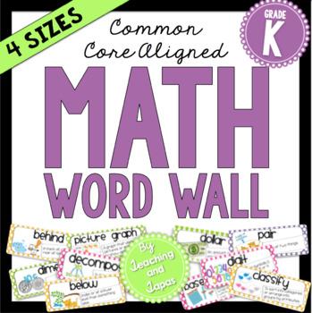 Math Word Wall (Kindergarten)