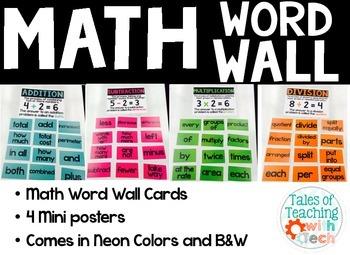 Math Word Wall / Math Focus Wall