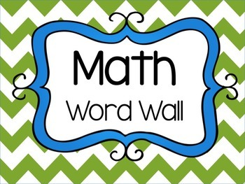 Math Word Wall & Math Stations Signs