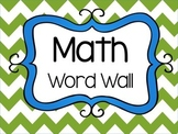 Math Word Wall & Math Stations Signs