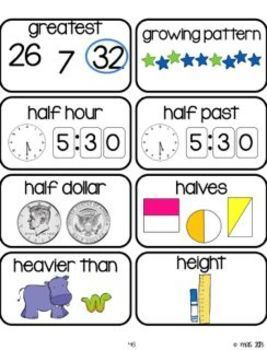 Math Word Wall Mega Pack