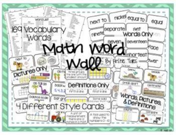Math Word Wall Mega Pack