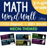 Math Word Wall {NEON}