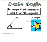 Math Word Wall Posters featuring Angles