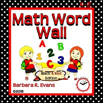 MATH WORD WALL: Red & Black Edition