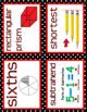 MATH WORD WALL Math Vocabulary Focus Wall Red Black Theme Classroom Decor