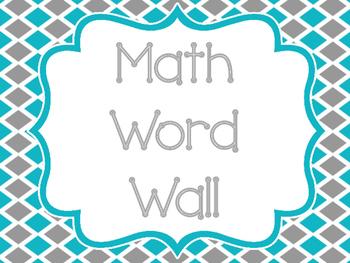 Math Word Wall Sign