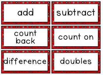 Math Word Wall - Superhero Theme