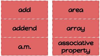 Math Word Wall Third Grade