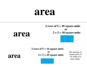 Math Word Wall 3rd Grade