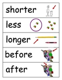 Math Word Wall Vocabulary Cards- Elementary