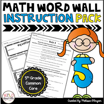 Math Word Wall Vocabulary Instruction Packet - 5th Grade