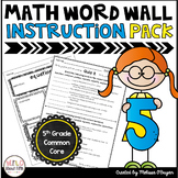 Math Vocabulary Instruction Pack & Quizzes