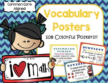 Common Core Math Vocabulary Posters