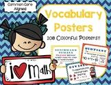 Common Core Math Vocabulary Posters