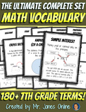 Math Word Wall Vocabulary Posters: Grade 7 - the Ultimate
