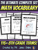 Math Word Wall Vocabulary Posters: Grade 8 - the Ultimate