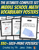 Math Word Wall Vocabulary Posters: the ULTIMATE SET with 3