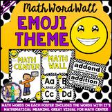 Math Vocabulary Cards A to Z (Math Word Wall) Emoji Classr