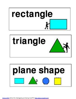 Math Word Wall Word Cards 1st Grade envision Math