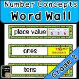 Number Concepts Math Word Wall (2nd Grade)