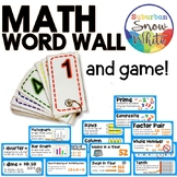 4th Grade Math Word Wall: Growth Mindset and Game