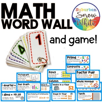 Math Word Wall and Game - Grade 4