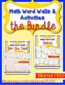 Math Word Wall and Games