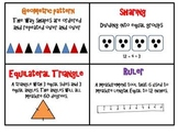 Math Word Wall for 2nd and 3rd Grade