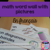 Math Word Wall in French with Pictures