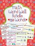 Math Word Wall Bundle - Data, Patterning, Geometry, Measurement, Probability