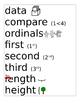 Math Word Wall words