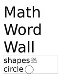 Math Word Wall words